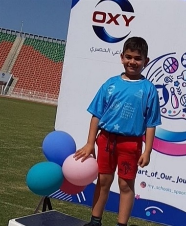 Student Abdullah Al-Zadjali achieved third place in the running race...