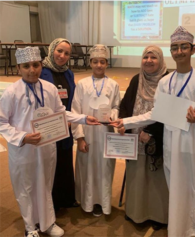 The winning team in the Mathematics Olympiad competition